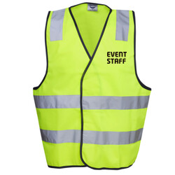 EVENT STAFF DAY/NIGHT VEST - HI-VIZ SAFETY DAY/NIGHT VEST