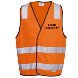 EVENT SECURITY DAY/NIGHT VEST - HI-VIZ SAFETY DAY/NIGHT VEST