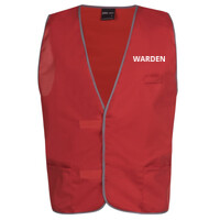 'Warden' Red Safety Day Vest