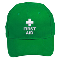 FIRST AID Green Safety Cap