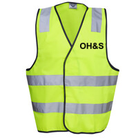 HI-VIZ 'OH&S' SAFETY DAY or DAY/NIGHT VEST
