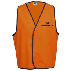 HI-VIZ 'FIRE MARSHALL' SAFETY DAY or DAY/NIGHT VEST