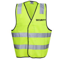 HI-VIZ 'SECURITY' SAFETY DAY/NIGHT VEST