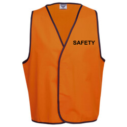 HI-VIZ 'SAFETY' HI-VIZ DAY OR DAY/NIGHT VEST