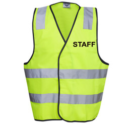 HI-VIZ 'STAFF' DAY/NIGHT SAFETY VEST - HI-VIZ SAFETY DAY/NIGHT VEST