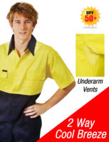 HI-VIS COTTON DRILL WORK SHIRT