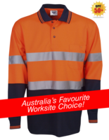 Day / Night Hi Vis Cooldry Polo - Long Sleeve