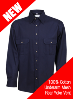 Cool Breeze Cotton Work Shirt L/S