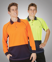 Hi-Viz Raglan Sleeve Cooldry Polo Short Sleeve
