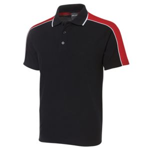 JB's Sleeve Panel Polo Black/Red/White S Thumbnail