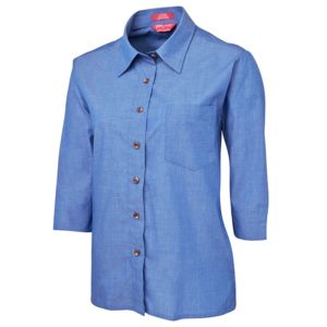 JB's Ladies 3/4 Indigo Shirt Indigo 6 Thumbnail
