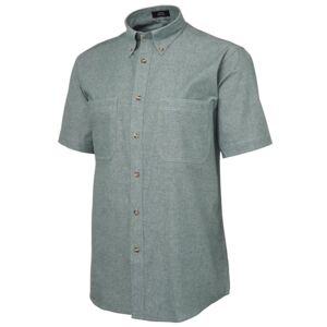 JB's S/S Cotton Chambray Shirt Green/Chambray S Thumbnail
