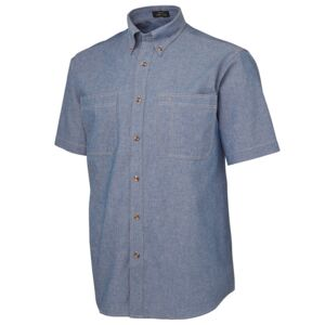 JB's S/S Cotton Chambray Shirt Chambray/Tan S Thumbnail