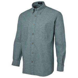 JB's L/S Cotton Chambray Shirt Green/Chambray S Thumbnail