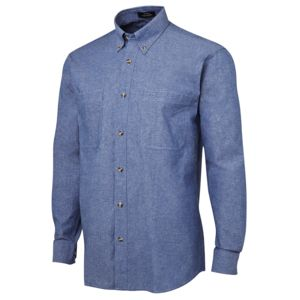 JB's L/S Cotton Chambray Shirt Chambray/Blue S Thumbnail