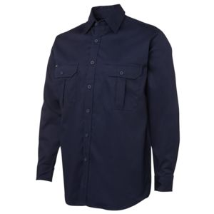 JB's L/S 190G Work Shirt Navy S Thumbnail