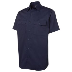 JB's S/S 150G Work Shirt Navy S Thumbnail