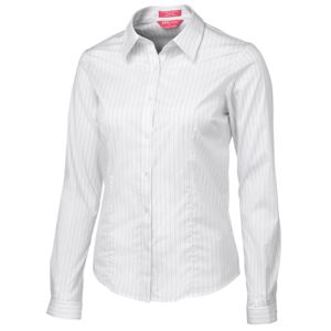 JB's Ladies Urban L/S Poplin Shirt Black/White 6 Thumbnail