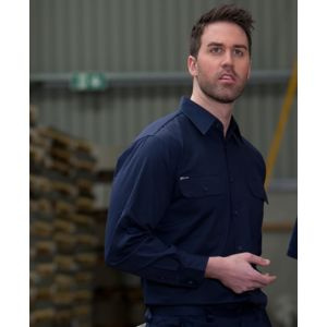 JB's L/S 150G Work Shirt Navy S Thumbnail
