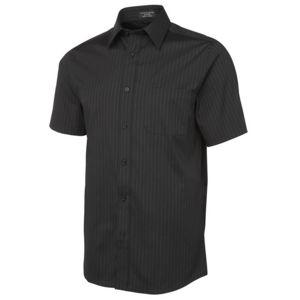 JB's Urban S/S Poplin Shirt Black/White S Thumbnail