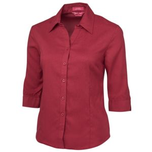 JB's Ladies 3/4 Polyester Shir Cherry 6 Thumbnail