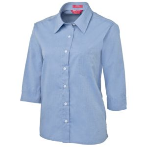 JB's Ladies 3/4 Fine Chambray Shirt Charcoal 8 Thumbnail