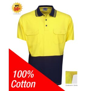 100% Cotton Hi Vis Polo Short Sleeve Thumbnail