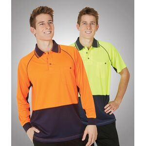 Hi-Viz Raglan Sleeve Cooldry Polo Short Sleeve Thumbnail