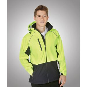J96 Hooded Hi-Viz Soft Shell Jacket Day Use Thumbnail