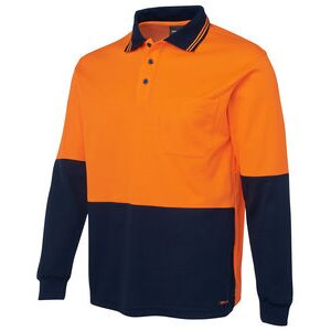 JB's Hi Vis L/S Cotton Back Polo Thumbnail