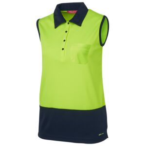 JB's Ladies Hi Vis S/Less Polo Thumbnail