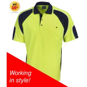 Hi Vis Cooldry Side Panel Polo Thumbnail