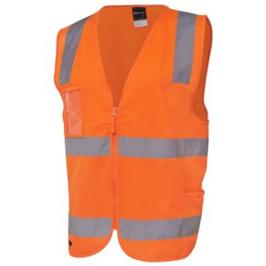 JB's Hi Vis (D+N) Zip Safety Vest Thumbnail