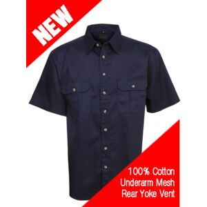 Cool Breeze Cotton Work Shirt S/S FE Thumbnail