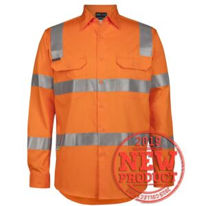 VIC RAIL WORK SHIRT HI VIS (D+N) L/S 150G  Thumbnail