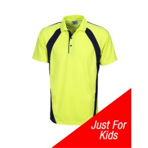 Hi-Vis Childs Coolfast Mini Waffle Polo Thumbnail