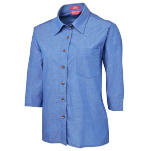 JB's Ladies 3/4 Indigo Shirt  Thumbnail