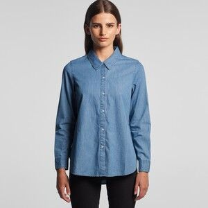 Women's Blue Denim Shirt Thumbnail