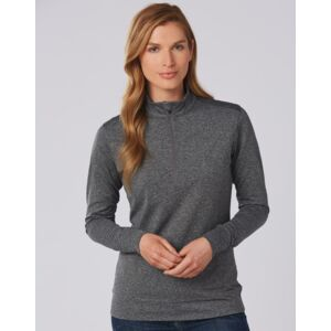 Ultimate Half Zip Long Sleeve Sweat Top- Ladies Thumbnail