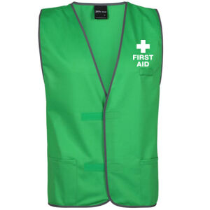 First Aid Green Pea Day Vest Thumbnail