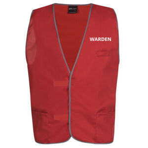 'Warden' Red Safety Day Vest Thumbnail