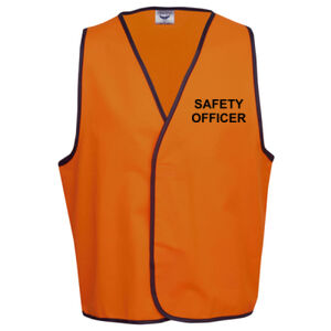 HI-VIZ 'SAFETY OFFICER' SAFETY DAY or DAY/NIGHT VEST Thumbnail