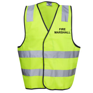 HI-VIZ 'FIRE MARSHALL' SAFETY DAY or DAY/NIGHT VEST Thumbnail