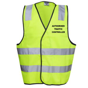 HI-VIZ ' AUTHORISED TRAFFIC CONTROLLER' HI-VIZ DAY VEST Thumbnail