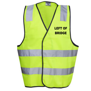 HI-VIZ ' LEFT OF BRIDGE' HI-VIZ DAY VEST Thumbnail