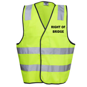 HI-VIZ ' RIGHT OF BRIDGE' HI-VIZ DAY VEST Thumbnail