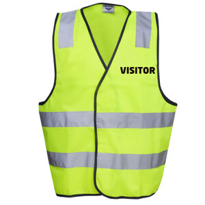 HI-VIZ  'VISITOR' SAFETY DAY/NIGHT VEST  Thumbnail