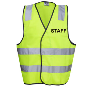 HI-VIZ 'STAFF' DAY/NIGHT SAFETY VEST - HI-VIZ SAFETY DAY/NIGHT VEST Thumbnail